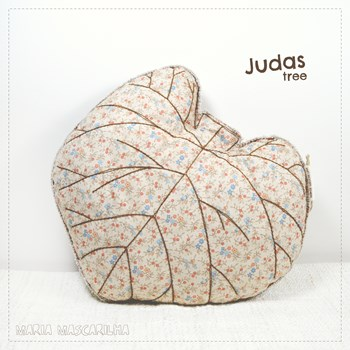 Judas Tree leaf shaped pillow