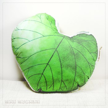 Printed Judas Tree leaf shaped pillow