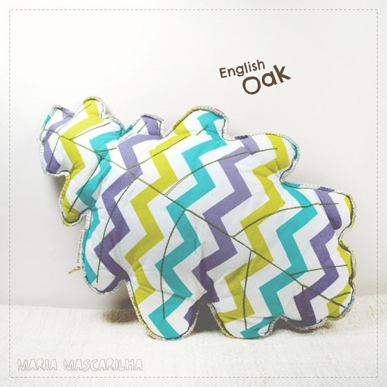English Oak leaf shaped pillow