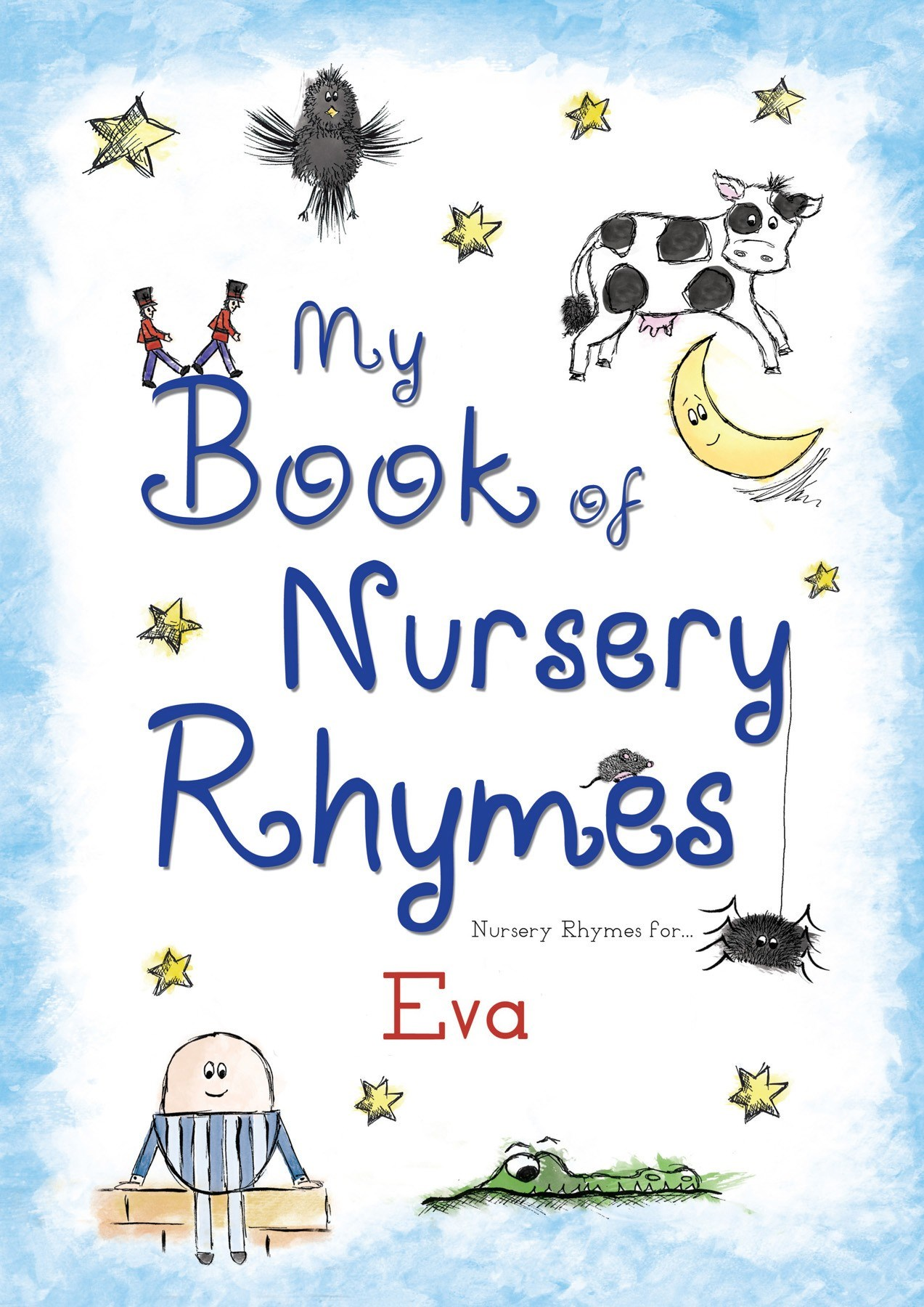 Personalised Children's My Book Of Nursery Rhymes (Paperback)