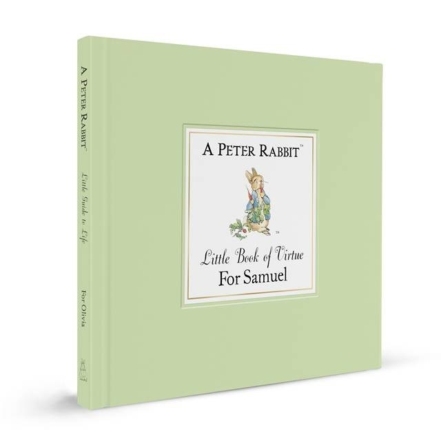 Personalised Children's The Peter Rabbit Little Book Of Virtue Book