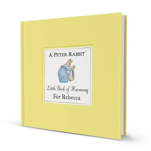 Personalised Children's The Peter Rabbit Little Book Of Harmony Book