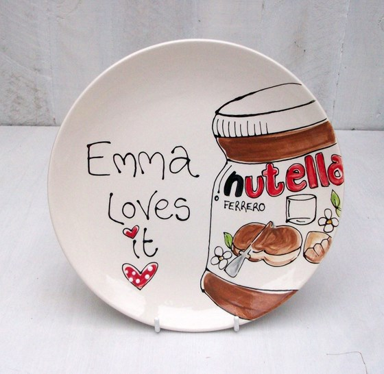 Personalised Childrens Ceramic Dinner Plate 20cm Coupe