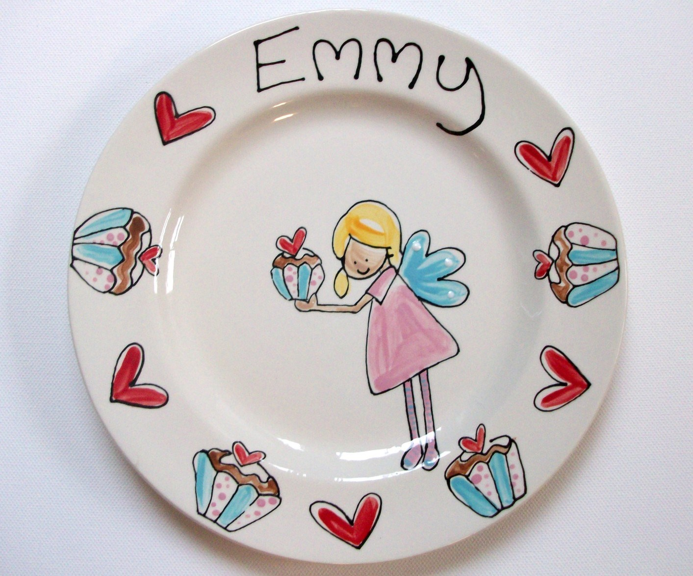 Personalised Children's Dinner Plate 22cm Rimmed