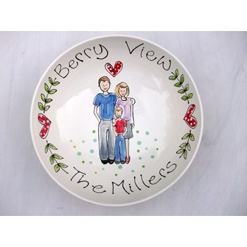 Personalised Family Portrait Bowl