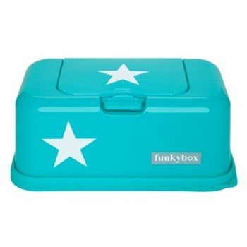 Funkybox Wipe Dispenser turquoise star