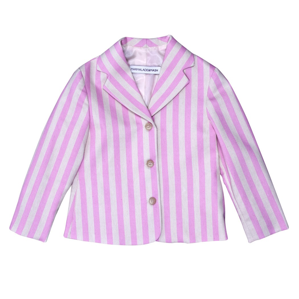 STRIPED JACKET IN PINK