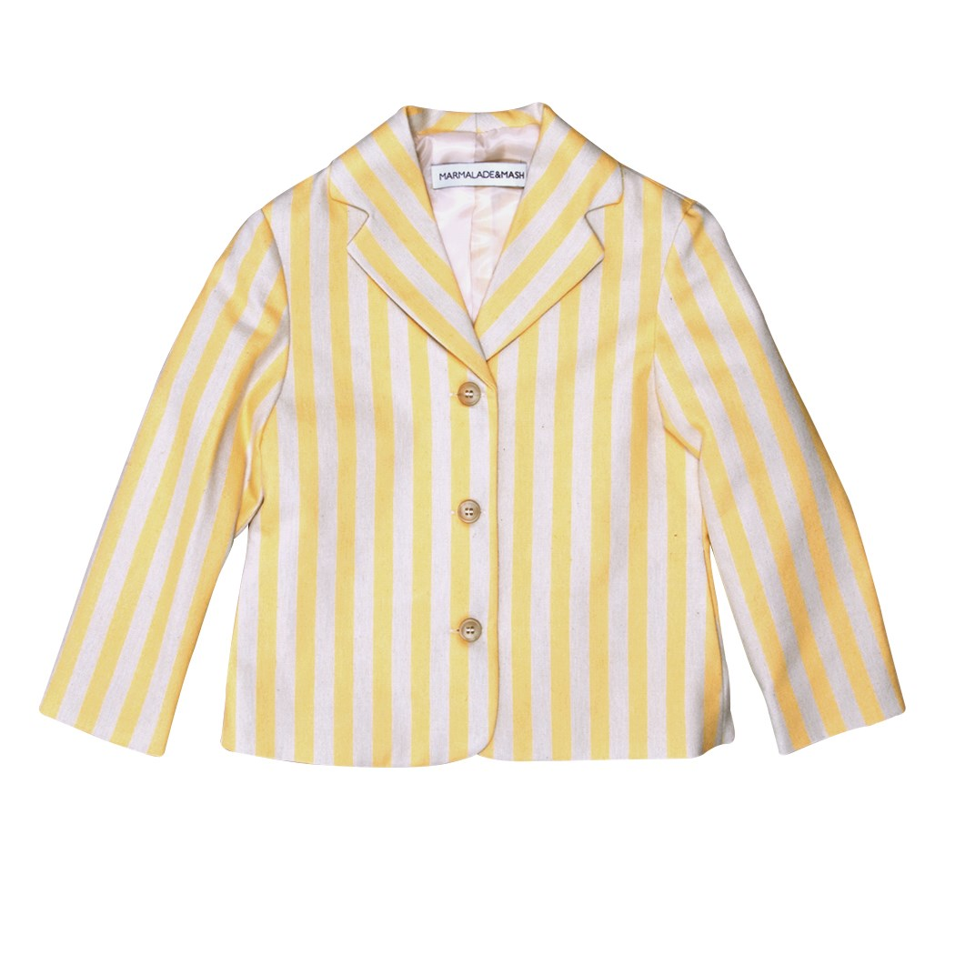 STRIPED JACKET IN YELLOW