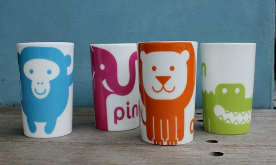 Colourful Animal China Beakers