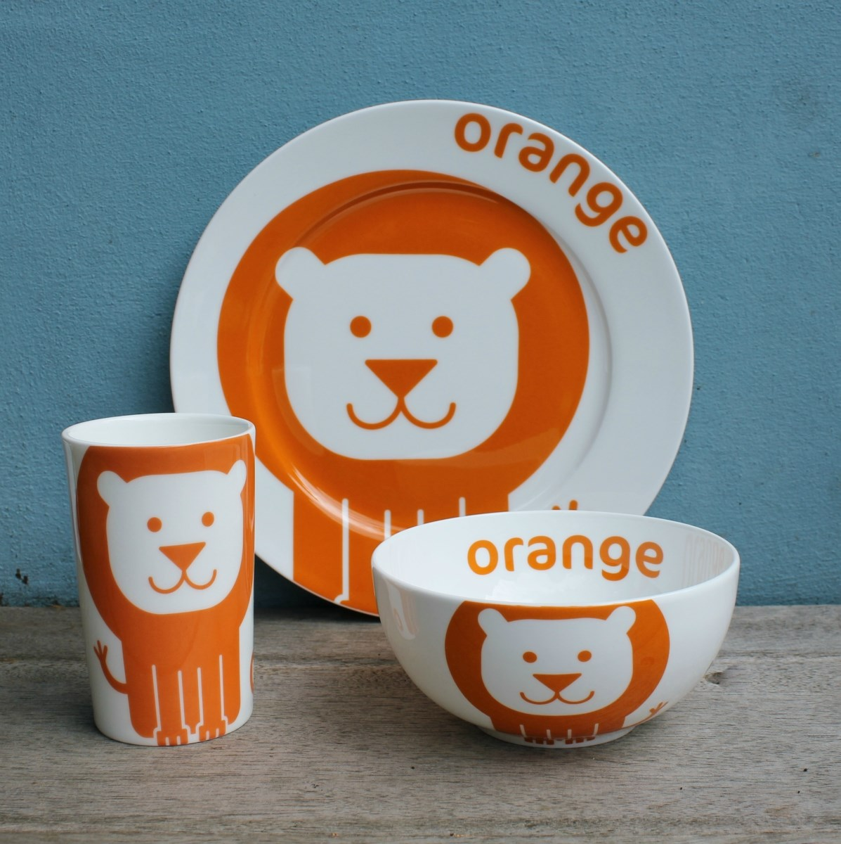Orange Lion China Gift Set