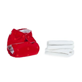 Red Reusable Cloth Nappy