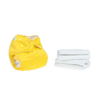 Yellow Reusable Cloth Nappy