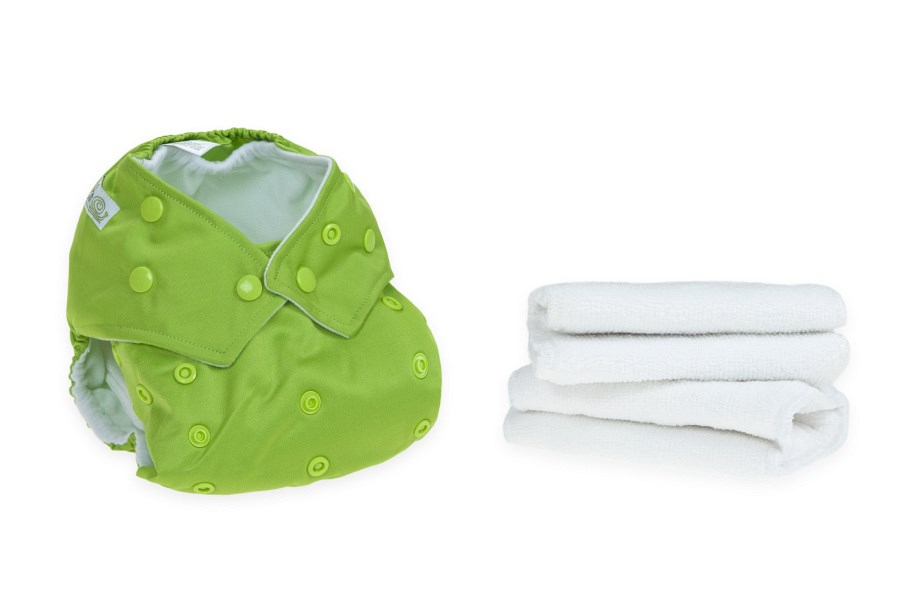 Lime Green Reusable Cloth Nappy