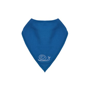 Teal Organic Cotton Bib