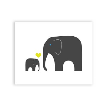 Elephant Love - 8 x 10 Art Print/Wall Art