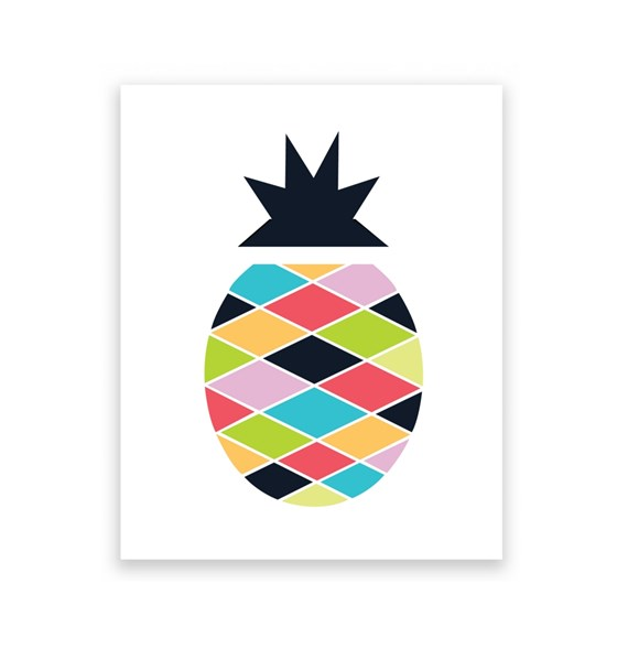 Pineapple Pop 8 x 10 Art Print/Wall Art