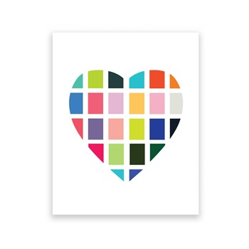 Digital Heart 8 x 10 Art Print/Wall Art
