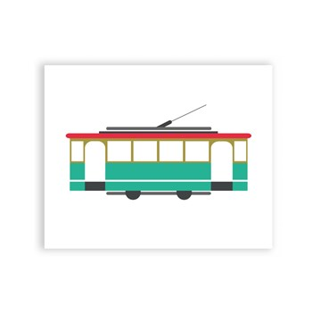 Melbourne City Tram 8 x 10 Art Print/Wall Art