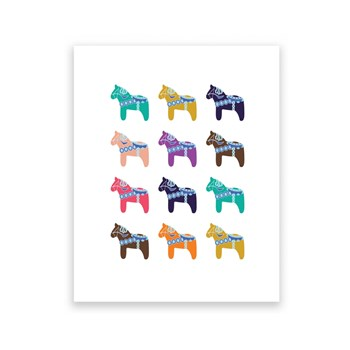 Dala Horse Collection - 8 x 10 Art Print/Wall Art