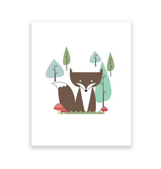 Forest Fox 8 x 10 Art Print/Wall Art