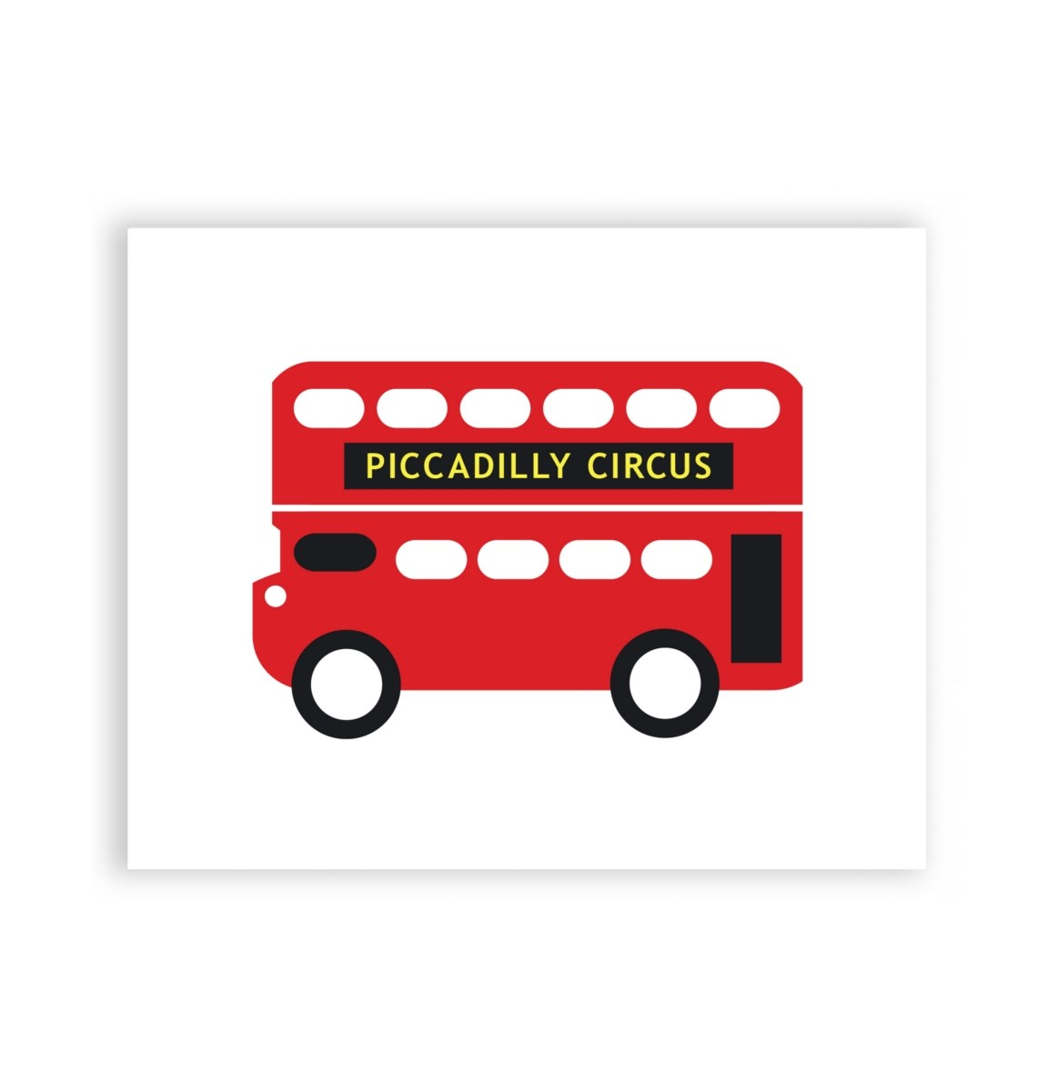 Piccadilly Circus Bus 8 x 10 Art Print/Wall Art