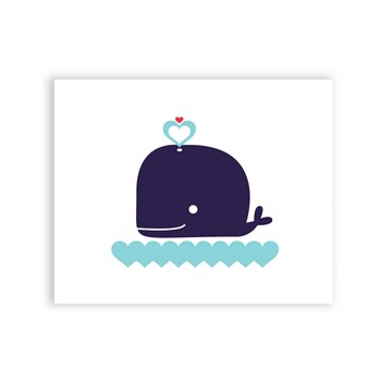Happy Whale - 8 x 10 Art Print/Wall Art