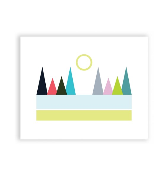 Mountain View 8 x 10 Art Print/Wall Art