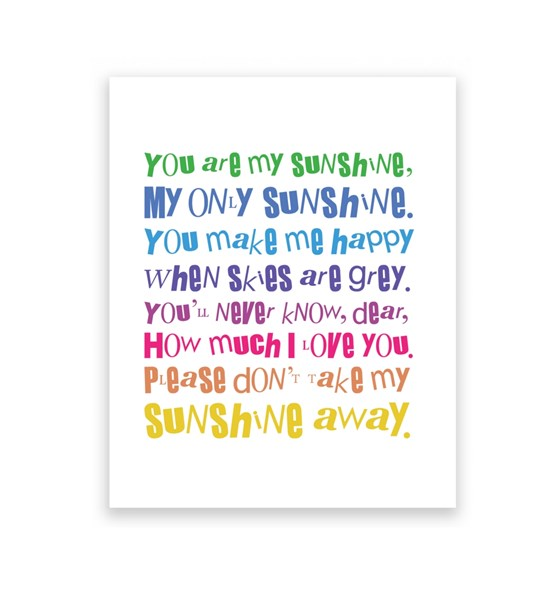 You Are My Sunshine 2 - 8X10 Art Print/Wall Art