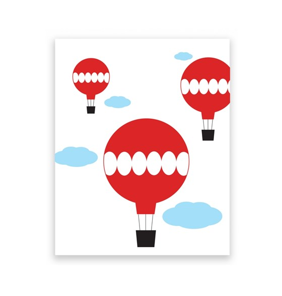 Hot Air Balloons 8 x 10 Art Print/Wall Art