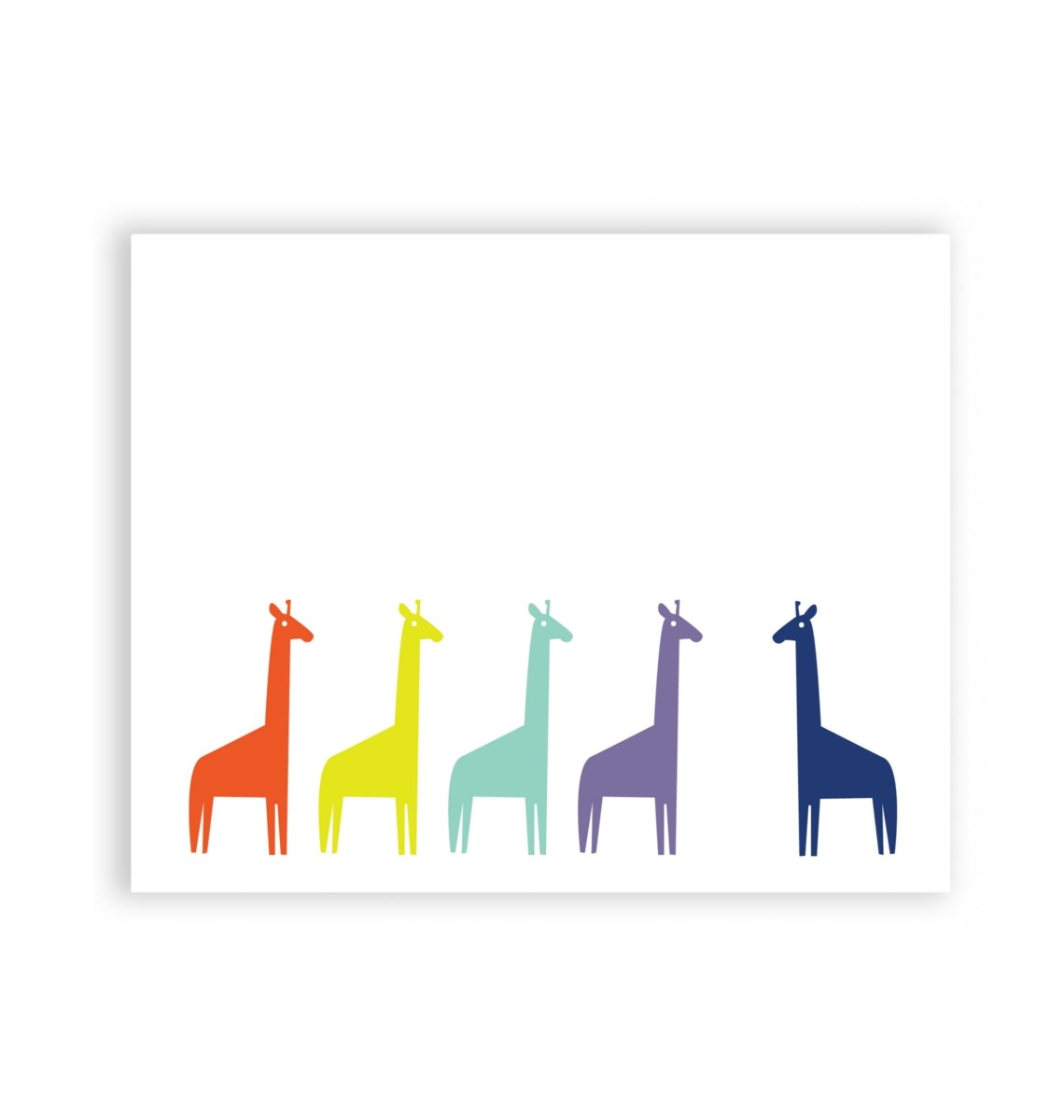 Colourful Giraffes 8 x 10 Art Print/Wall Art