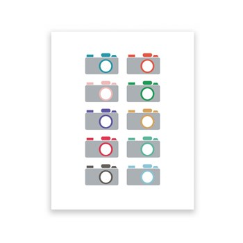 Camera Collection - 8 x 10 Art Print/Wall Art