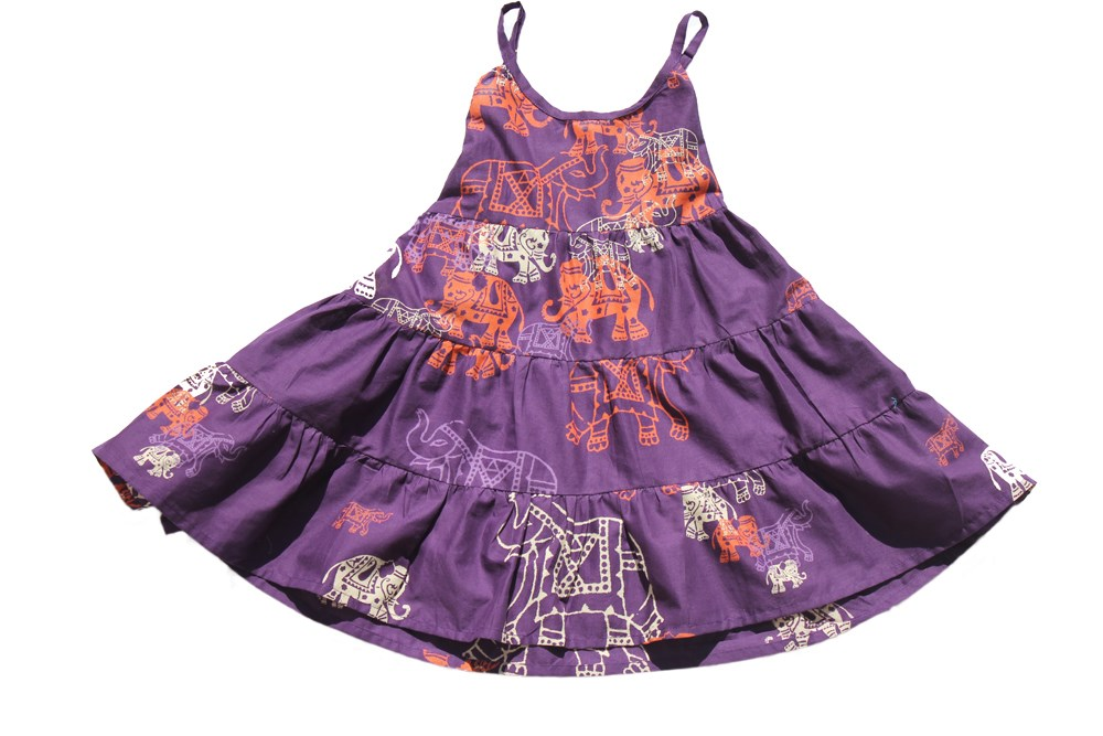 Purple Elephant Dress