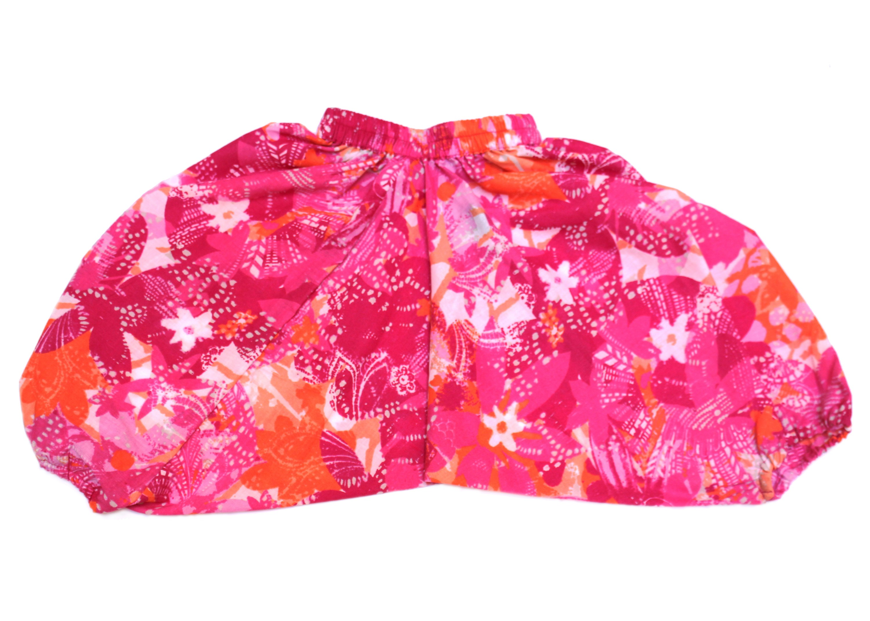 Pink Cotton Toddler Harem Pants
